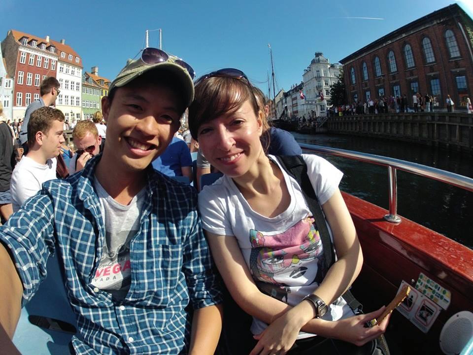 Kheesuan und ich auf einer Bootstour :)