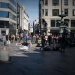 Platz am Ende der Shoppingmeile Strøget mit Strochenbrunnen