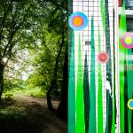 Wanddeko in der Südstadt und Sommer im Vorgebirgspark