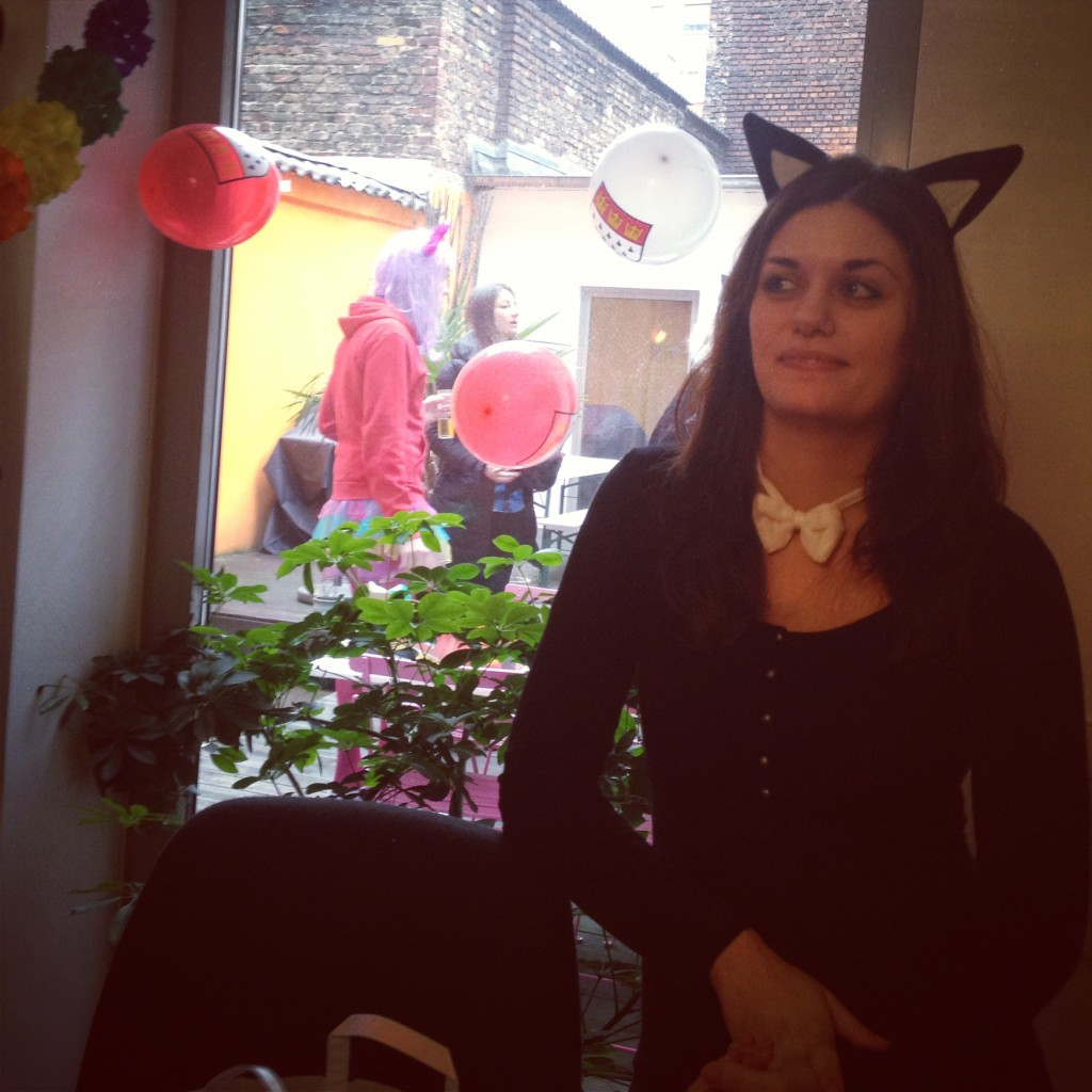 Carnival at work - with my colleague Elena :)