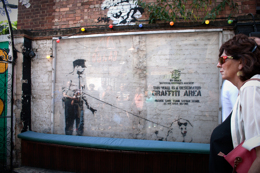 Banksy artwork at CARGO Bar in Shoreditch