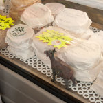 Goat cheese at the market