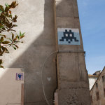 Streetart by Invader in Bastia
